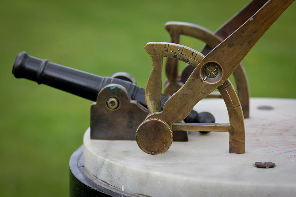 Antique Noonday Cannon Sundial