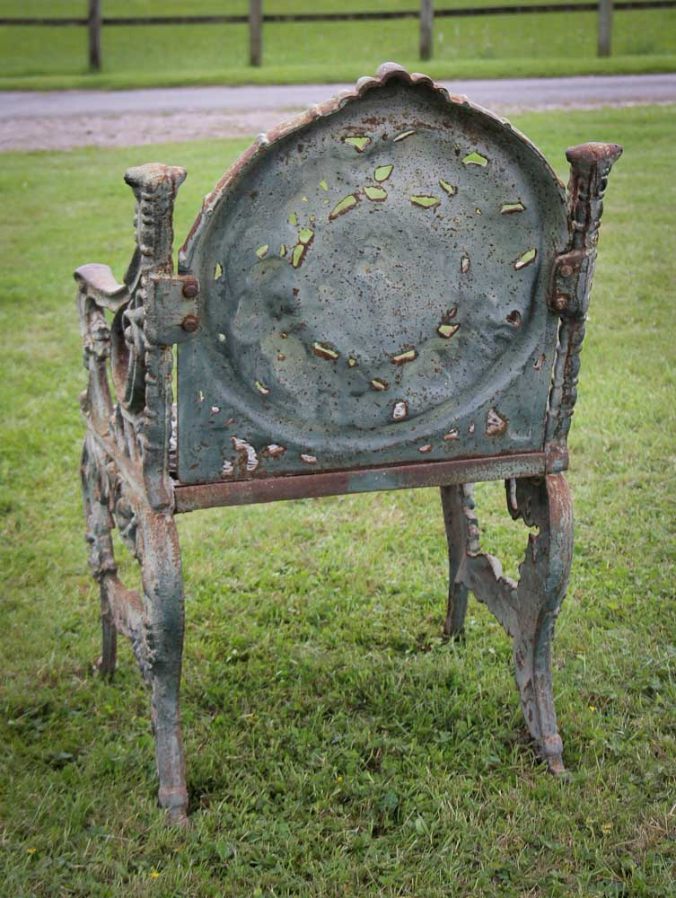 Old antique cast iron chair